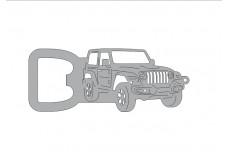 Bottle opener for Jeep Wrangler JL 2018+ - (type keychain)