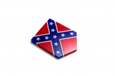 Car emblem (shield) with flag of American Confederate