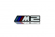 Car Emblem for grill with logo ///M2 - (type Carbon)