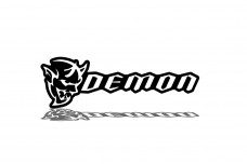 Car Emblem for grill with logo Demon (type 2)