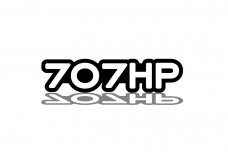 Car Emblem for grill with logo 707HP