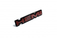 Car Emblem for grill with logo HEMI (type CARBON)