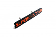Car Emblem for grill with logo Supercharged