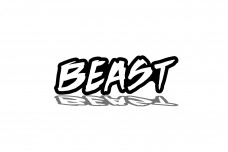 Car Emblem for grill with logo BEAST