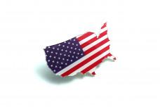 Car Emblem for grill with logo flag USA
