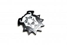 Car emblem (shield) with logo Pitbull