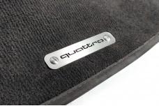 Car mat badge for Audi with logo Quattro