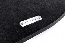 Car mat badge for Chrysler