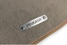 Car mat badge for Peugeot