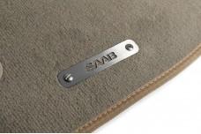 Car mat badge for Saab