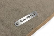 Car mat badge for SsangYong