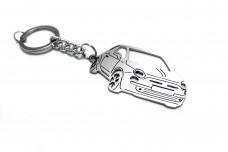 Keychain Fiat 500 2007+ - (type 3D)