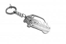Keychain Jaguar X-Type 2001-2009 - (type 3D)