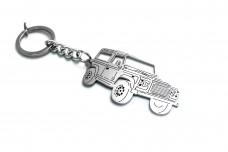 Keychain Land Rover Defender 1983-2016 - (type 3D)