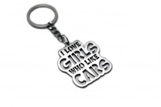 "Keychain  ""I Love Girls who Like Cars"" - (type STEEL)"