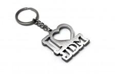 "Keychain ""I Love JDM"" - (type STEEL)"