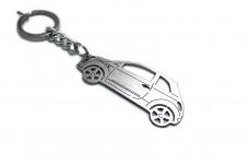 Keychain Fiat 500 2007+ - (type STEEL)