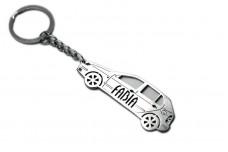 Keychain Skoda Fabia I 1999-2007 - (type STEEL)
