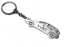 Keychain Volvo V40 2012+ - (type STEEL)