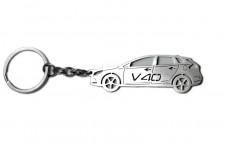 Keychain Volvo S40 II 2004-2015 - (type STEEL)