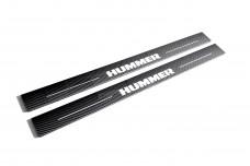 Plastic door sills for Hummer H2 2002-2009 - (type CARBON)