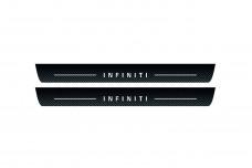 Plastic door sills for Infiniti QX70 (FX) 2008+ - (type CARBON)