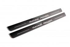 Plastic door sills for Range Rover III 2002-2012 - (type CARBON)