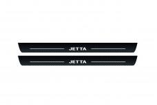 Plastic door sills for Volkswagen Jetta VI 2010-2018 - (type CARBON)