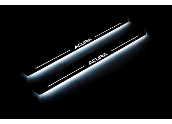 Led door sills Acura MDX II 2006-2013 (front doors) - (type STATIC)