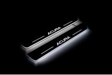 Led door sills Acura MDX II 2006-2013 (rear doors) - (type STATIC)