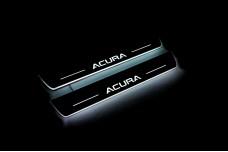 Led door sills Acura MDX III 2013+ (front doors) - (type STATIC)
