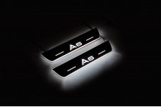Led door sills Audi A6 C7 2011-2018 (rear doors) - (type STATIC)