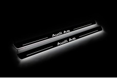 Led door sills Audi A6 C7 2011-2018 (front doors) with logo Audi A6 - (type STATIC)