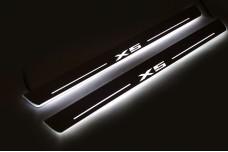 Led door sills BMW X5 E70 2006-2013 (front doors) - (type STATIC)