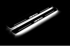 "Led door sills Chrysler 300C II 2011+ with logo ""300C"" - (type STATIC)"