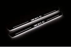 "Led door sills Chrysler 300C I 2005-2010 with logo ""300C"" - (type STATIC)"