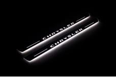 Led door sills Chrysler 200 II 2015-2017 with logo Chrysler (front doors) - (type STATIC)
