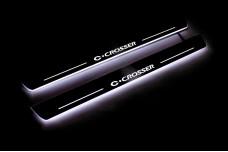 Led door sills Citroen C-Crosser 2007-2012 (front doors) - (type STATIC)