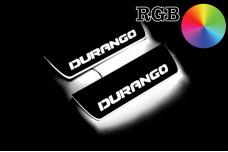 Led door sills Dodge Durango III 2011+ (rear doors) - (type RGB)