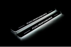 Led door sills Ford Focus IV 2018+ with logo Ford Perfomance (front doors) - (type STATIC)