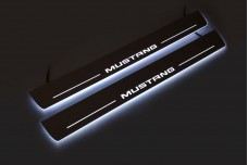 Led door sills Ford Mustang VI 2015+ - (type STATIC)