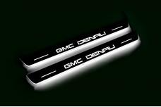 Led door sills GMC Terrain II 2018+ (front doors) with logo GMC DENALI - (type STATIC)