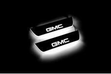 Led door sills GMC Terrain II 2018+ (rear doors) with logo GMC - (type STATIC)