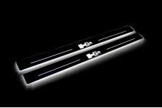 Led door sills Hummer H2 2002-2009 with logo H2 (front doors) - (type STATIC)