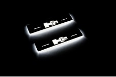 Led door sills Hummer H2 2002-2009 with logo H2 (rear doors) - (type STATIC)