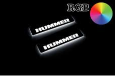 Led door sills Hummer H2 2002-2009 (rear doors) - (type RGB)
