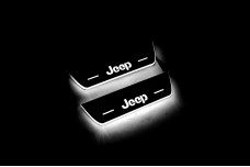 Led door sills Jeep Cherokee KL 2014+ with logo Jeep (rear doors) - (type STATIC)