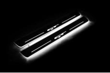 """Led door sills KIA Ceed II 2012-2018 with logo """"GT"""" (front doors) - (type STATIC)"""