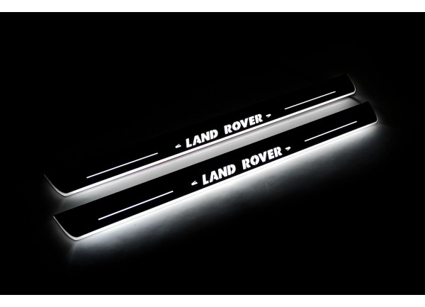 Led door sills Land Rover Discovery IV 2009-2016 (front doors) with logo Land Rover - (type STATIC)