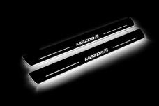 Led door sills Mazda 3 III 2013-2019 (front doors) - (type STATIC)